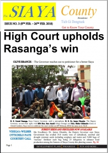 3rd Issue, The Siaya County Newsletter