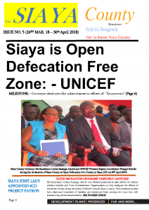 Official 5th Issue, The Siaya County Newsletter