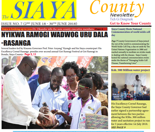 Official 7th Issue Siaya County-Newsletter