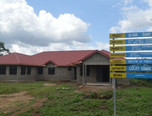 The Construction of The Ksh.12m Siaya Referal Hospital Blood Bank Mapped For Completion In Less Than 4 Weeks