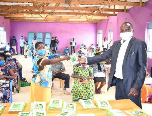The Distribution of vegetable relief seeds to Siaya farmers