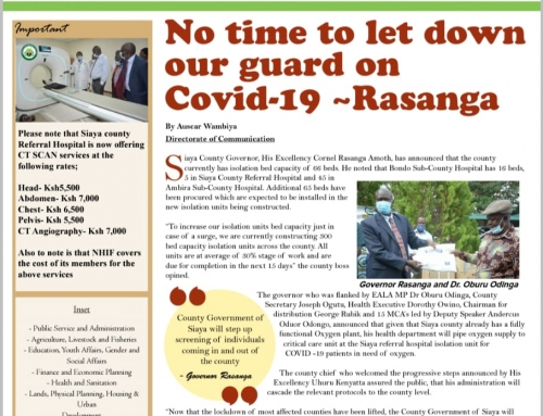 Official 17th Issue Siaya County-Newsletter