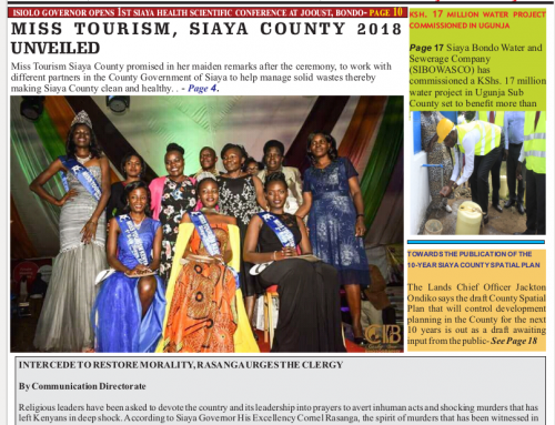 Official 10th Issue Siaya County-Newsletter
