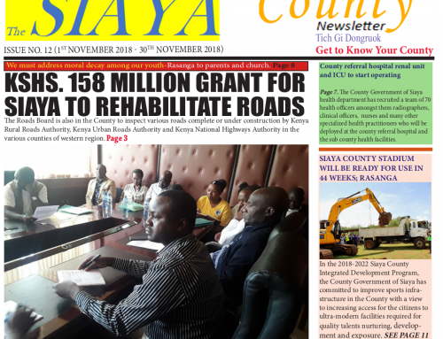 Official 12th Issue Siaya County-Newsletter