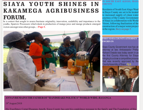 Official 9th Issue Siaya County-Newsletter