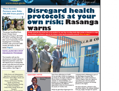 Official 20th Issue – Siaya County Newsletter
